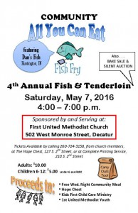 2016 First UMC Fish Fry Ad