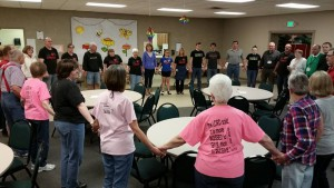 2016 Fish Fry circle of prayer