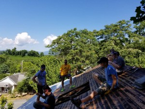 2017 Youth Mission Trip Copper Hill TN Roofing